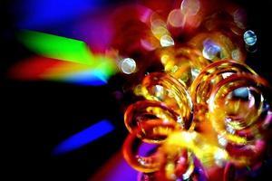 objet enroulé abstrait dans des couleurs abstraites photo