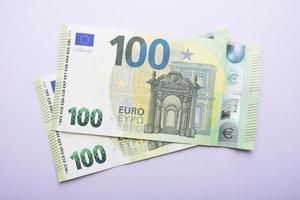 cent billets de l'UE photo