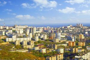 paysage urbain avec vue sur les rues et l'architecture photo