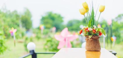 fleurs mélangées sur bouquet photo