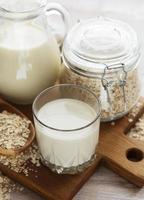 lait d'avoine végétalien alternative lait non laitière photo