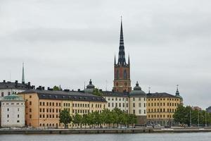 Vue panoramique de la ville de Stockholm et Evert Taubes Terrass de l'hôtel de ville de Stockholm photo