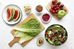 composition d'aliments entiers sains photo