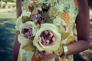 bouquet poignée fleur photo