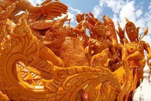 Festival de cire de bougie à Ubon Ratchathani, Thaïlande photo
