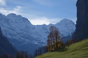 vue panoramique sur les alpes suisses photo