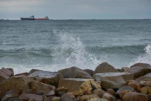 Bord de mer et paysage près de la ville de Skagen au Danemark photo