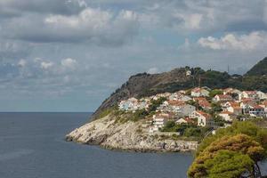 Quartier résidentiel sur coasline de Dubrovnik Croatie photo