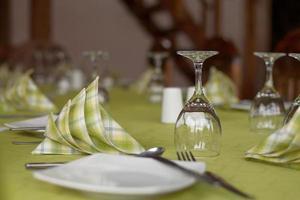 réglage de la table traditionnelle photo