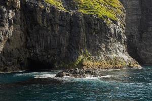 Côte sauvage et rocheuse des îles Féroé au Danemark photo