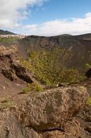 Cratère du volcan San Antonio à Las Palmas aux îles Canaries photo