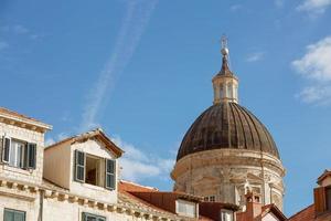 Dôme de la cathédrale de l'Assomption de la Vierge Marie à Dubrovnik en Croatie photo