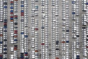 vues aériennes avec fond de parking photo