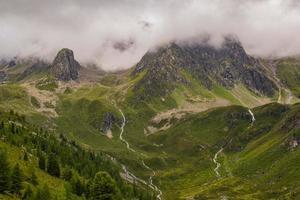 ruisseaux dans les alpes du tyrol du sud photo