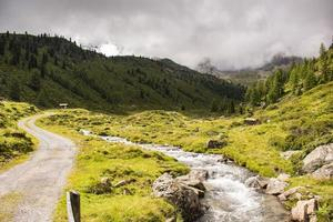 ruisseau dans les alpes du tyrol du sud photo