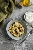 arrangement créatif de plats savoureux photo