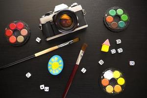concept de créativité flatlay photo