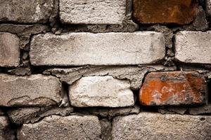 vieux, brique, mur, texture, fond, gros plan photo