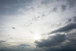 ciel nuage bleu photo