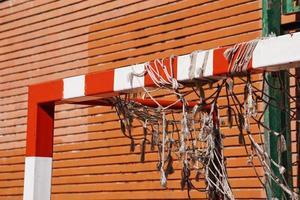 équipement de sport de but de football de rue photo