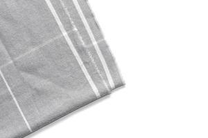 Un morceau de tissu à carreaux gris isolé sur fond blanc avec une zone pour le texte photo