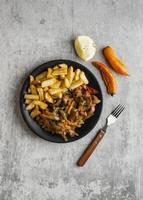 assortiment créatif de plats savoureux photo
