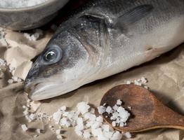 composition de poisson cru pour la cuisson photo