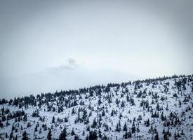 vue aérienne sur la montagne glacée photo