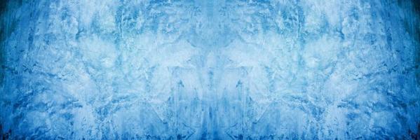 Fond de toile de fond de ciment et de béton dégradé bleu doux et foncé photo