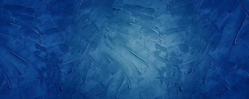 fond de bannière horizontale de ciment foncé et bleu photo