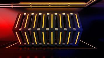 Rendu 3D de fond géométrique brillant photo