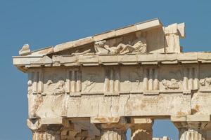 Parthénon sur l'Acropole d'Athènes en Grèce photo