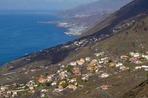 Vue du village du volcan San Antonio sur Las Palmas aux îles Canaries photo