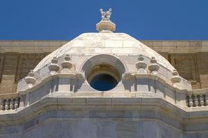 Détail de l'architecture historique à cadix espagne photo