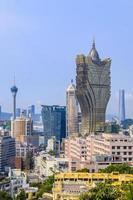 vue de la ville de macao photo