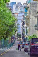 Vue d'une rue de la ville de Macao, Chine, 2020 photo