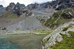 Petit lac alpin dans les Alpes autrichiennes du Tyrol photo