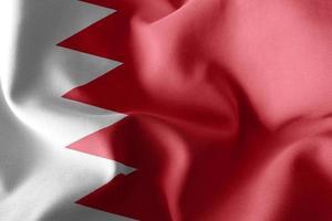Drapeau d'illustration de rendu 3D de bahreïn sur le fond de drapeau de vent photo