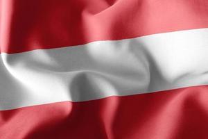 Drapeau d'illustration 3D de l'Autriche photo