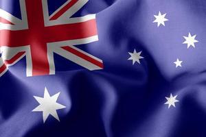 Drapeau d'illustration 3D de l'Australie photo