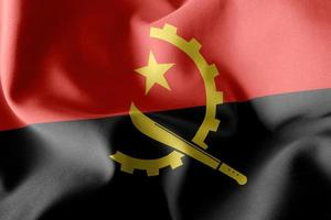 Drapeau d'illustration 3D de l'Angola photo