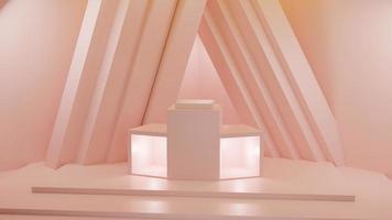 Rendu 3D de fond orange pastel photo