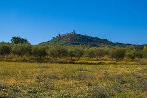 vue panoramique sur le château d'assise photo