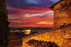 coucher de soleil à assisi photo