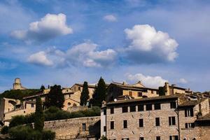 vue d'assise avec nuages photo