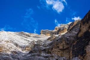 Pics de la cortina d'ampezzo dolomites à Belluno, Vénétie, Italie photo
