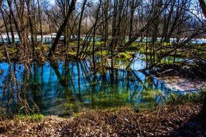 reflets dans le lit de la rivière photo