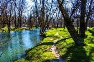 Les rives de la rivière Brenta à Piazzola sul Brenta, Padoue, Italie photo