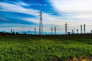 pylônes haute tension photo