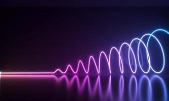 formes abstraites au néon photo